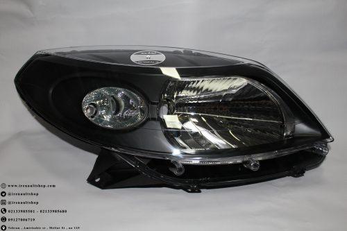 چراغ جلو ( بلوری ) رنو استپ وی   لوازم یدکی و برقی و موتوری و گیربکس و سرسیلندر و بدنه و آپشن های اسپرتی محصولات رنو